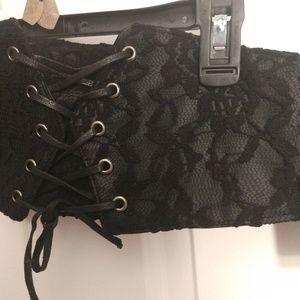 Torrid black corset belt size 3